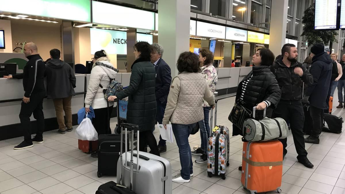 Koffers later door stiptheidsactie op Schiphol