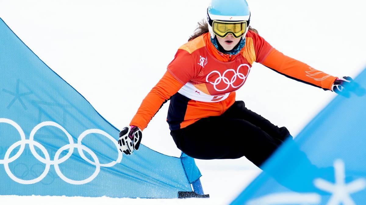 Spelen Dekker voorbij; snowboardster komt 0,01 seconde tekort