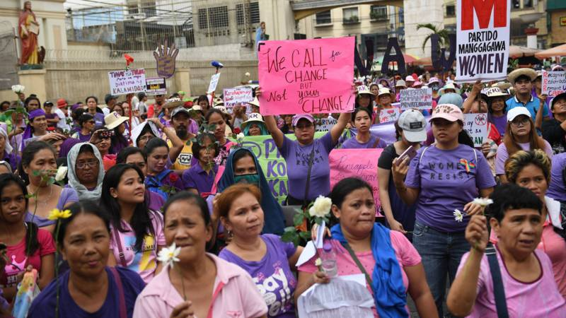 International Women's Day march in Manila, Philippines, AFP photo