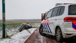 Nawinter: besneeuwde velden en ongelukken op de weg.