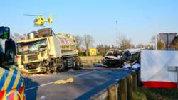 Vijf doden en vier zwaargewonden na zwaar verkeersongeval bij Helmond.