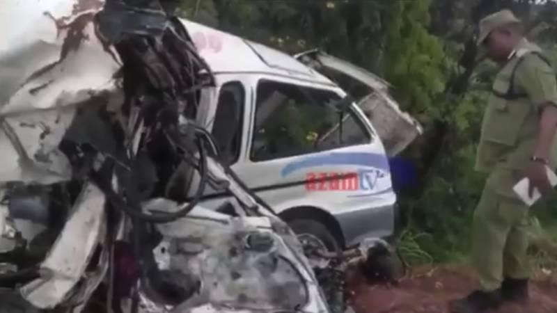 26 doden bij zware aanrijding Tanzania.