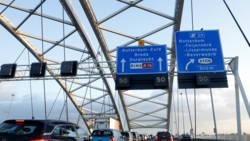 Verkeersinfarct rond Rotterdam door ongelukken.