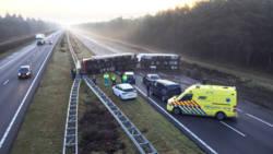 Zatte truckers veroorzaken ongelukken op A4 en A67.