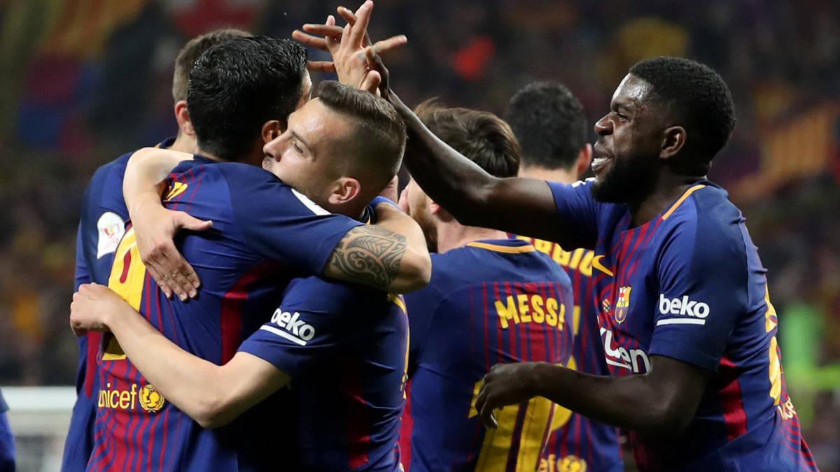 Cillessen wint Copa del Rey met swingend Barcelona