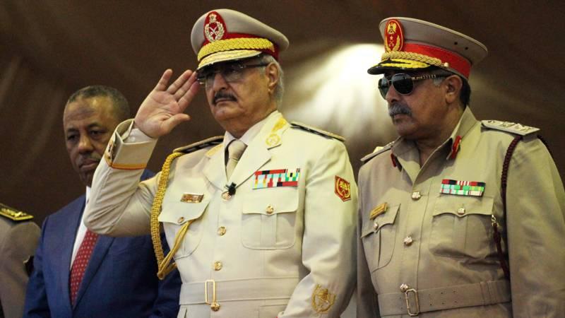 Warlord Khalifa Haftar in Benghazi, AFP photo