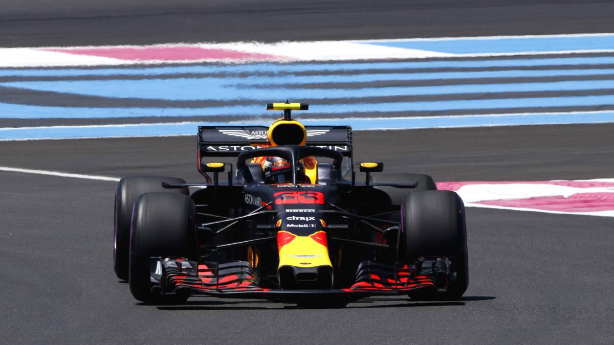 Hamilton op pole in Frankrijk, Verstappen op plaats vier
