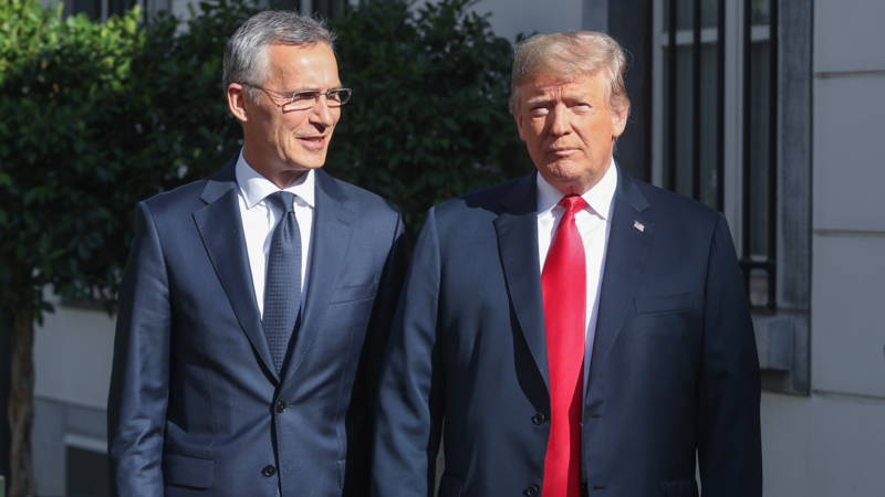 NATO boss Stoltenberg and Trump, EPA photo