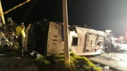 Meer dan 20 doden bij busongeluk in Ecuador.