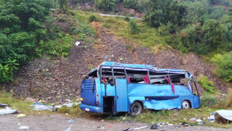 Zestien doden bij ongeluk met touringcar in Bulgarije.