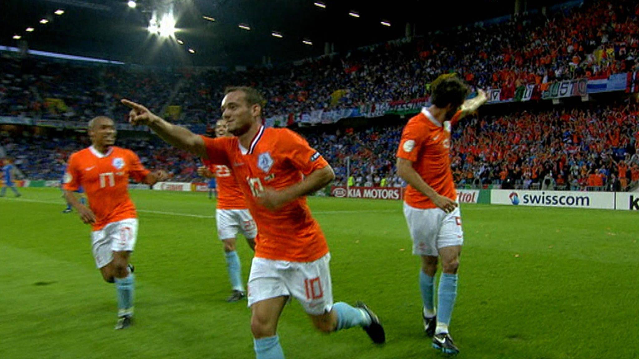 Nederland-Italië EK 2008: Sneijder scoort op verjaardag | NOS