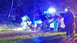 Twee doden bij frontale botsing met boom in Assen.