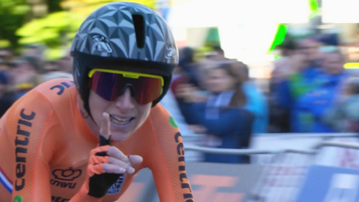 Oranje podium bij WK tijdrit: goud voor Van Vleuten