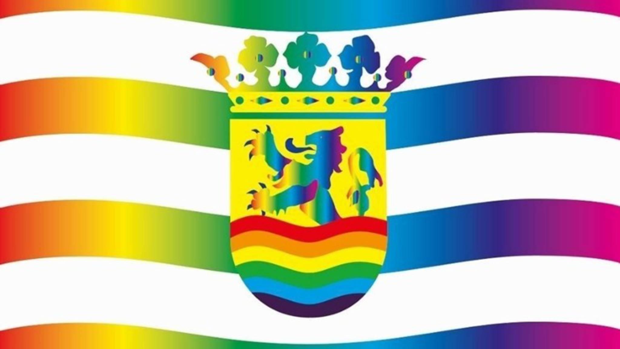 Zeeland rainbow flag design, by Vos Broekema