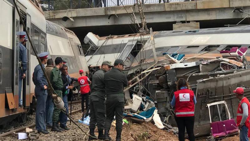 Doden en tientallen gewonden bij treinongeluk Marokko.