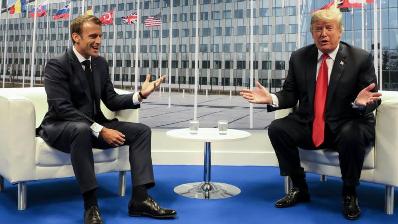 Macron and Trump, AFP photo