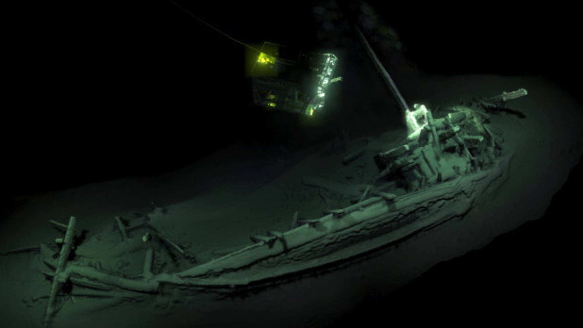 The newly discovered ancient Greek ship, photo Black Sea Maritime Archaeology Project (MAP)