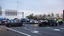 Groot ongeluk op A2 bij Utrecht, weg hele avond dicht.