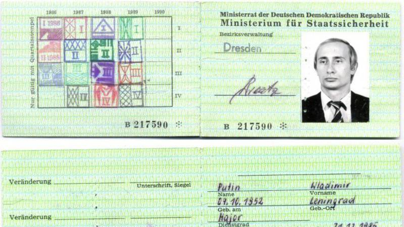 Putin The Archive Passport Found In Old Stasi