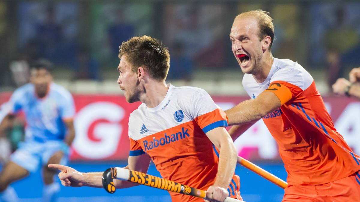 Oranje halvefinalist WK hockey na zwaarbevochten zege op India