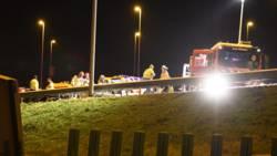 Acht gewonden door ongeval op A9 bij Muiden.