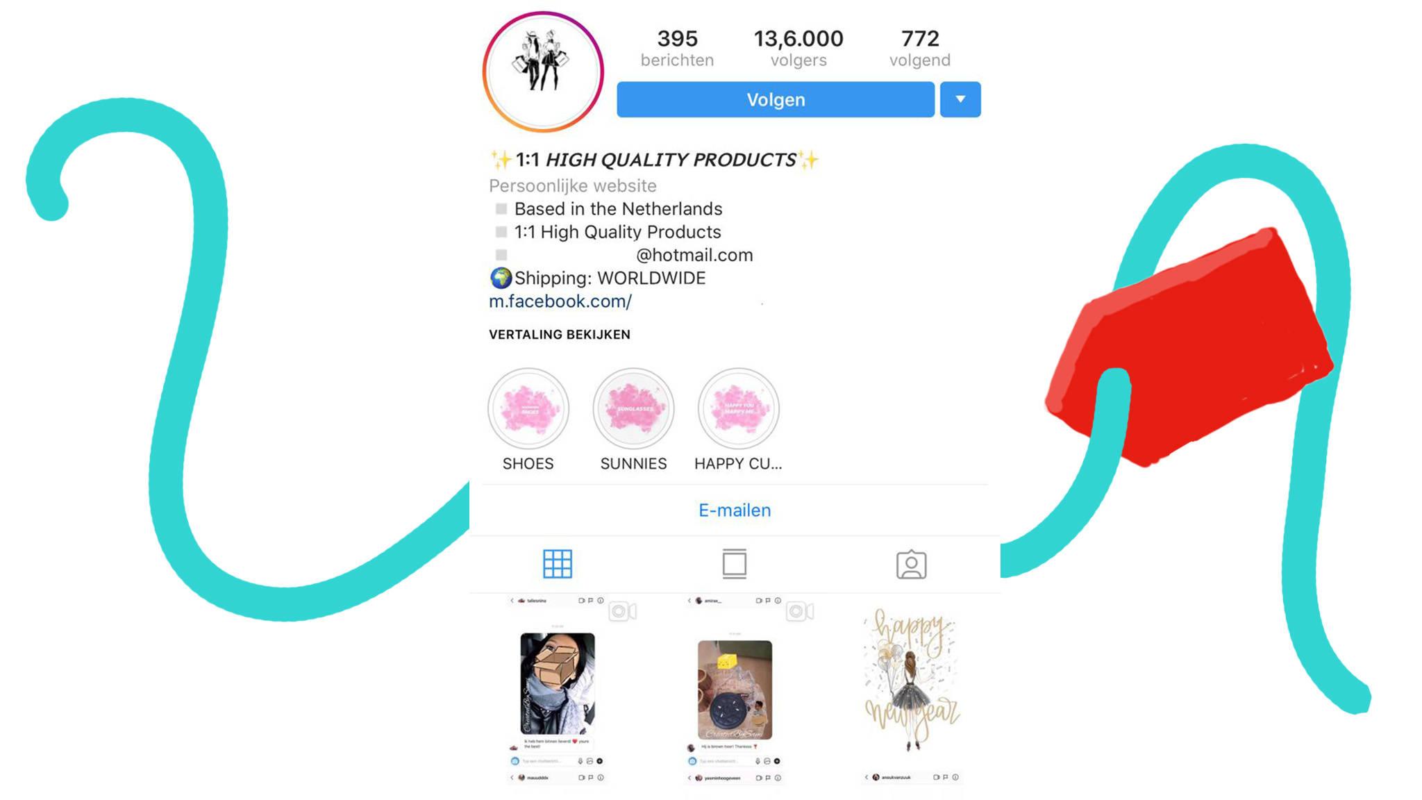 468f5c5e646 Instagram verwijdert 2000 accounts die nepmerkkleding verkopen | NOS