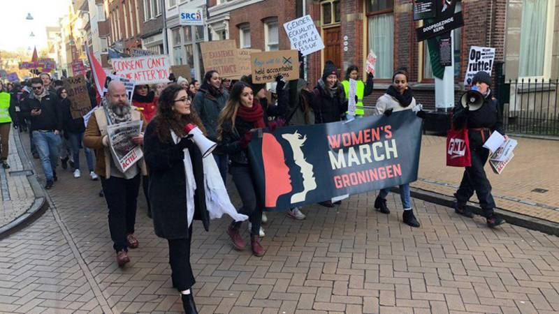 The Women's March in Groningen, the Netherlands. Photo by Martin Drent | RTV Noord