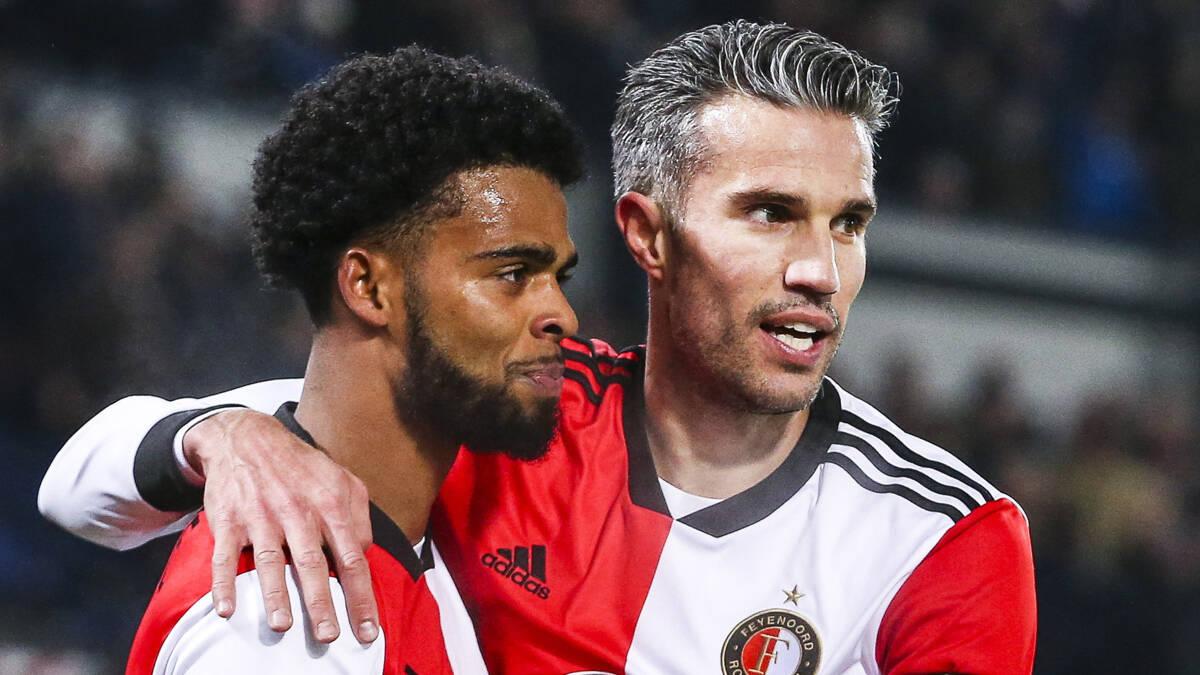 Feyenoord blijft zicht houden op een prijs na winst op Fortuna Sittard