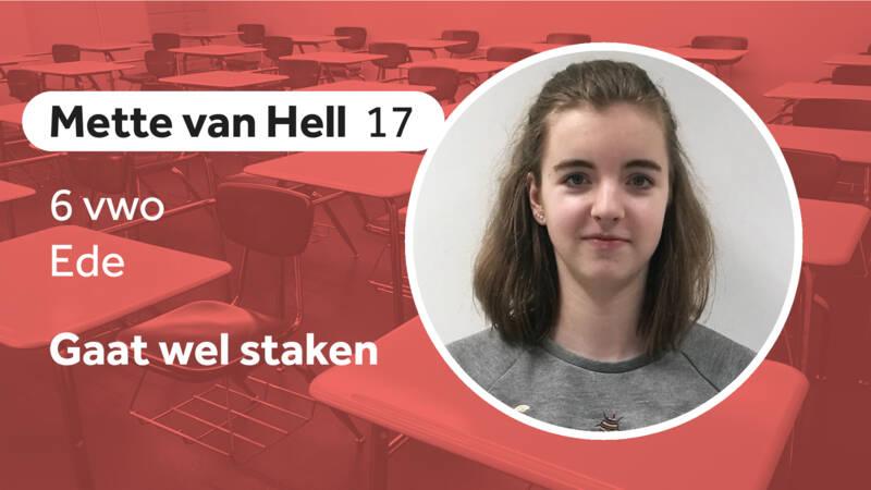 Mette van Hell, pro-climate striker