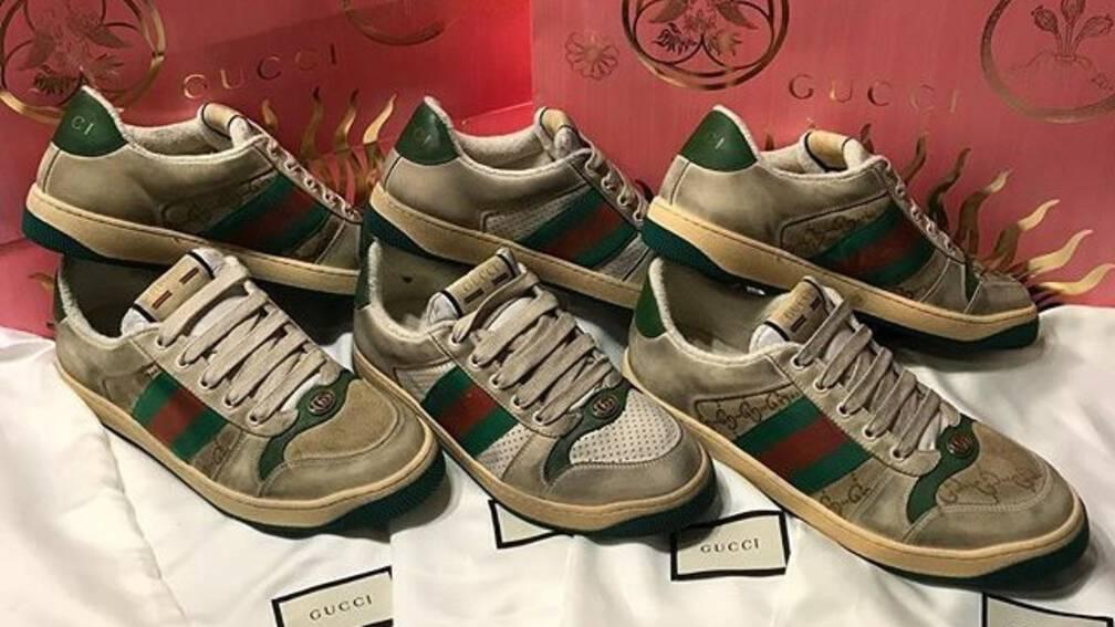 9370c9bc515 Gucci verkoopt 'afgetrapte' sneakers voor veel geld | NOS Jeugdjournaal
