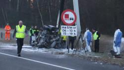 Drie doden bij eenzijdig ongeluk op A59, auto volledig uitgebrand.
