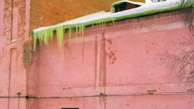 Huh?! Groene sneeuw in Rusland