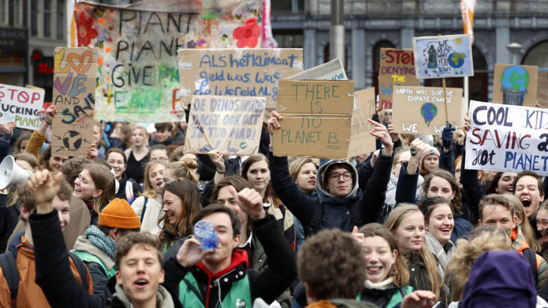 Pro-climate march in Amsterdam, 14 March 2019, ANP photo