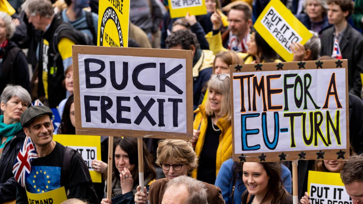 Massademonstratie in Londen tegen brexit: 'beste deal is geen brexit'