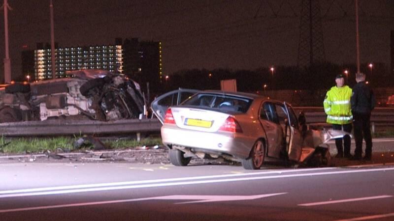 Zes gewonden bij botsing A7 Zaandam.