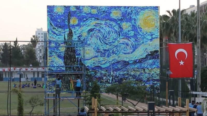 Super 5000 kinderen maken beroemd schilderij na | NOS Jeugdjournaal GJ-69