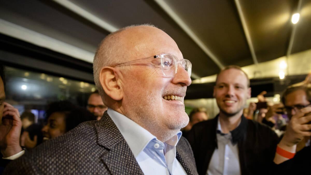 EU-verkiezingen: Timmermans vindt PvdA-winst fantastisch resultaat