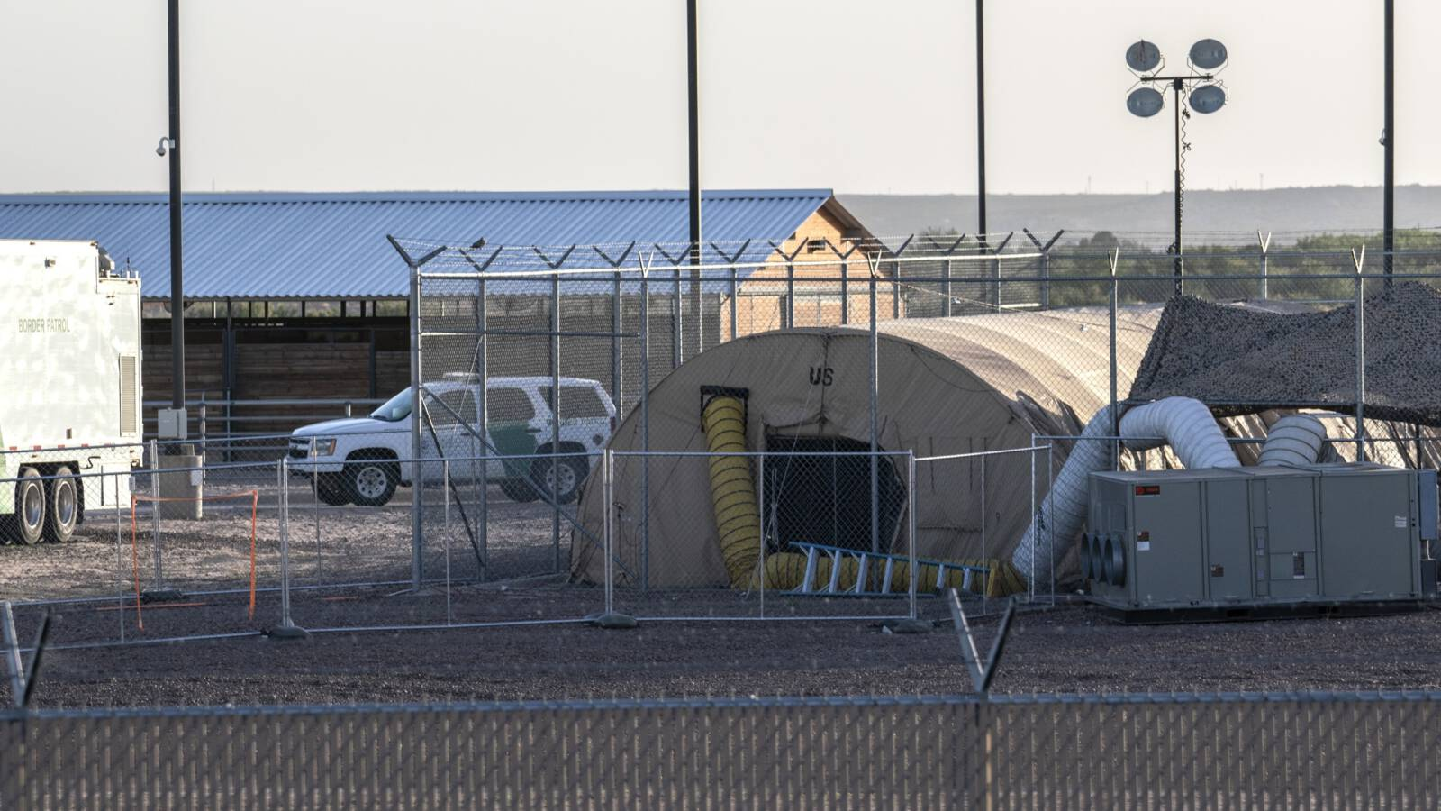 The children's jail near El Paso, Texas, USA. AFP photo