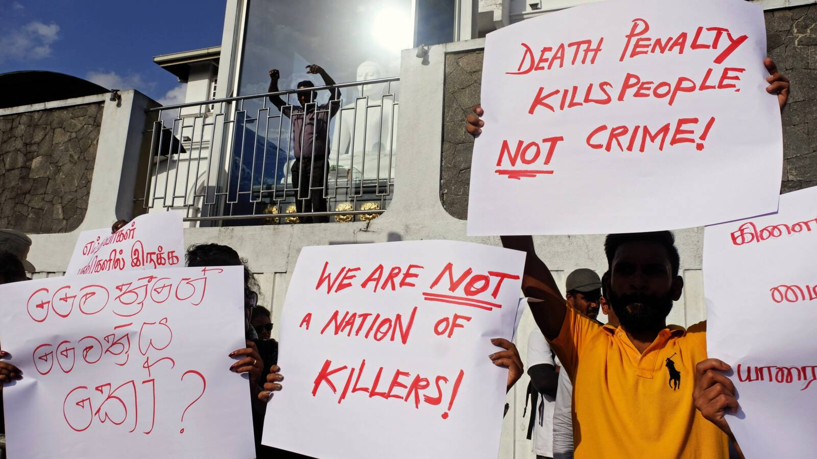 Demonstration against death penalty in Sri Lankan capital Colombo, EPA photo