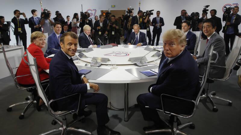 Botsing Macron en Trump na ochtendsessie G7, onverwacht bezoek Iran.