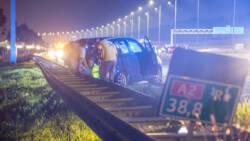 Chaos op A2 na ongeluk bij Abcoude, snelweg helemaal dicht richting Utrecht.