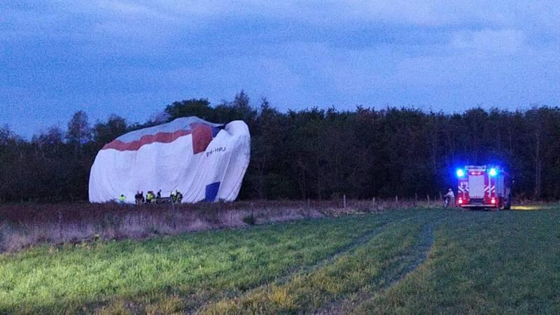 Vier gewonden na ongeval met luchtballon Limburg.
