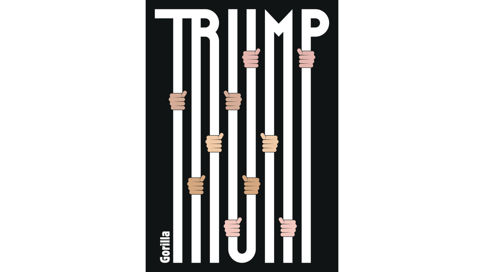 Trump jails immigrant children, cartoon by Gorilla