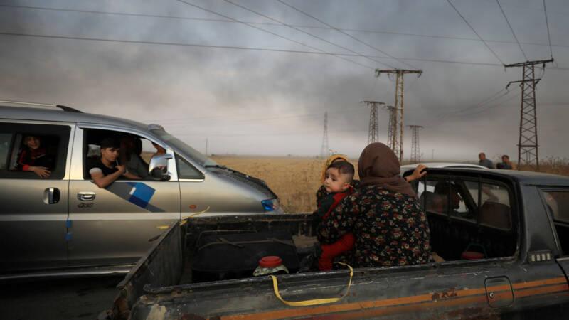 VN: tienduizenden burgers op de vlucht in Noord-Syrië