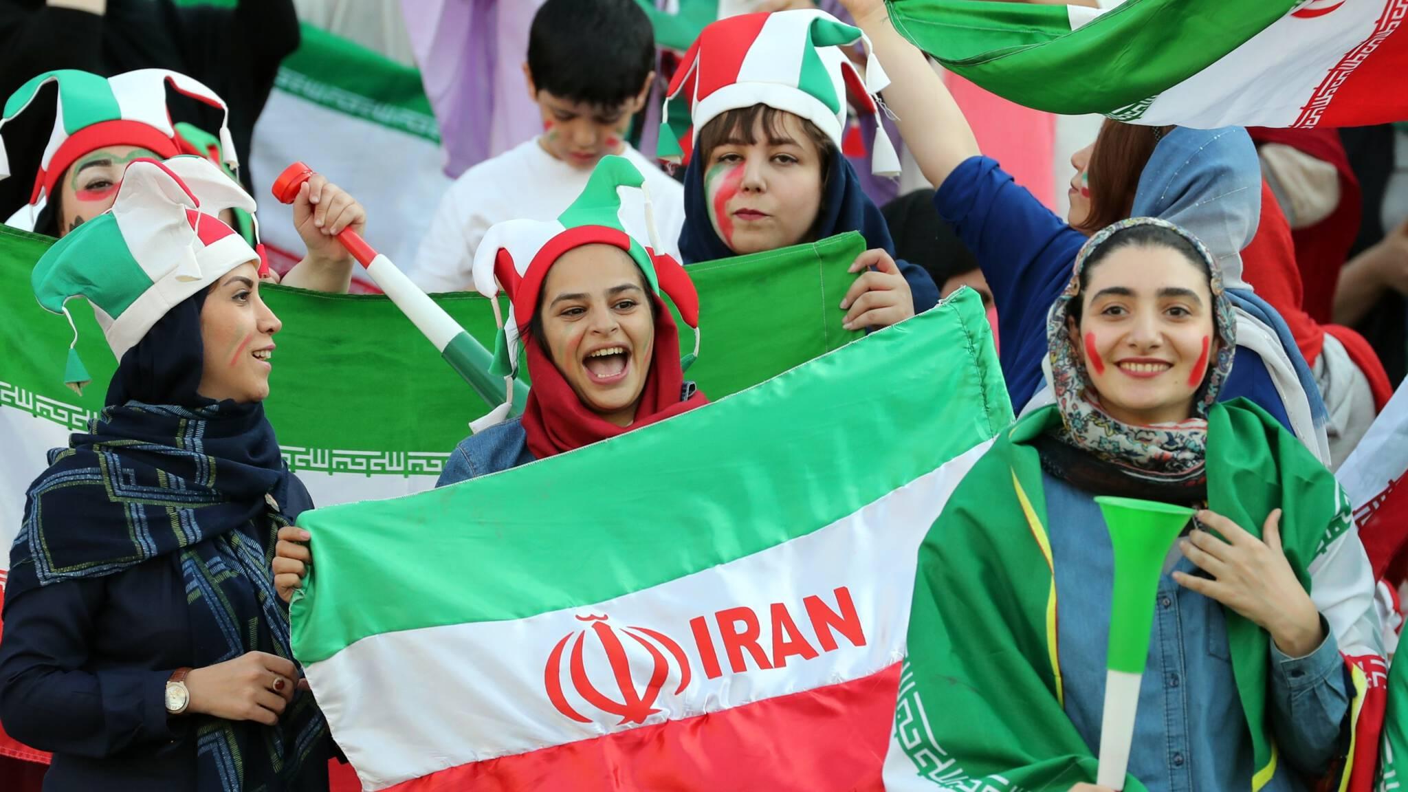 Iranian women football fans, ANP photo