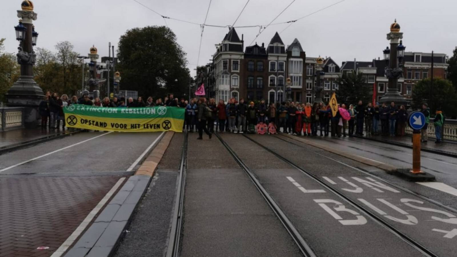 Extinction Rebellion climate protest in Amsterdam, the Netherlands