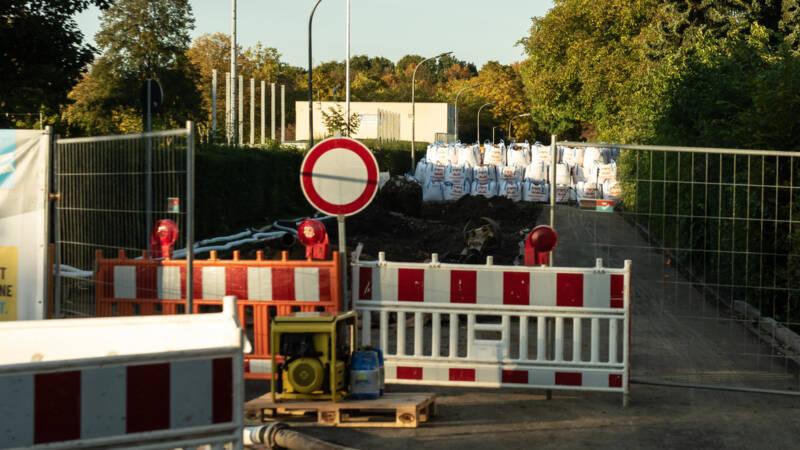 Evacuatie in Göttingen om vliegtuigbom WO II
