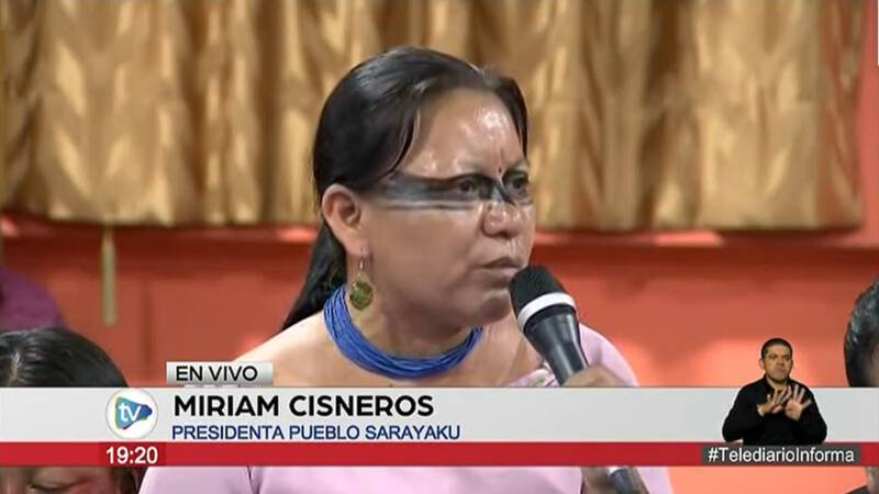 Inheemse leiders Ecuador uiten ongenoegen in gesprek met president