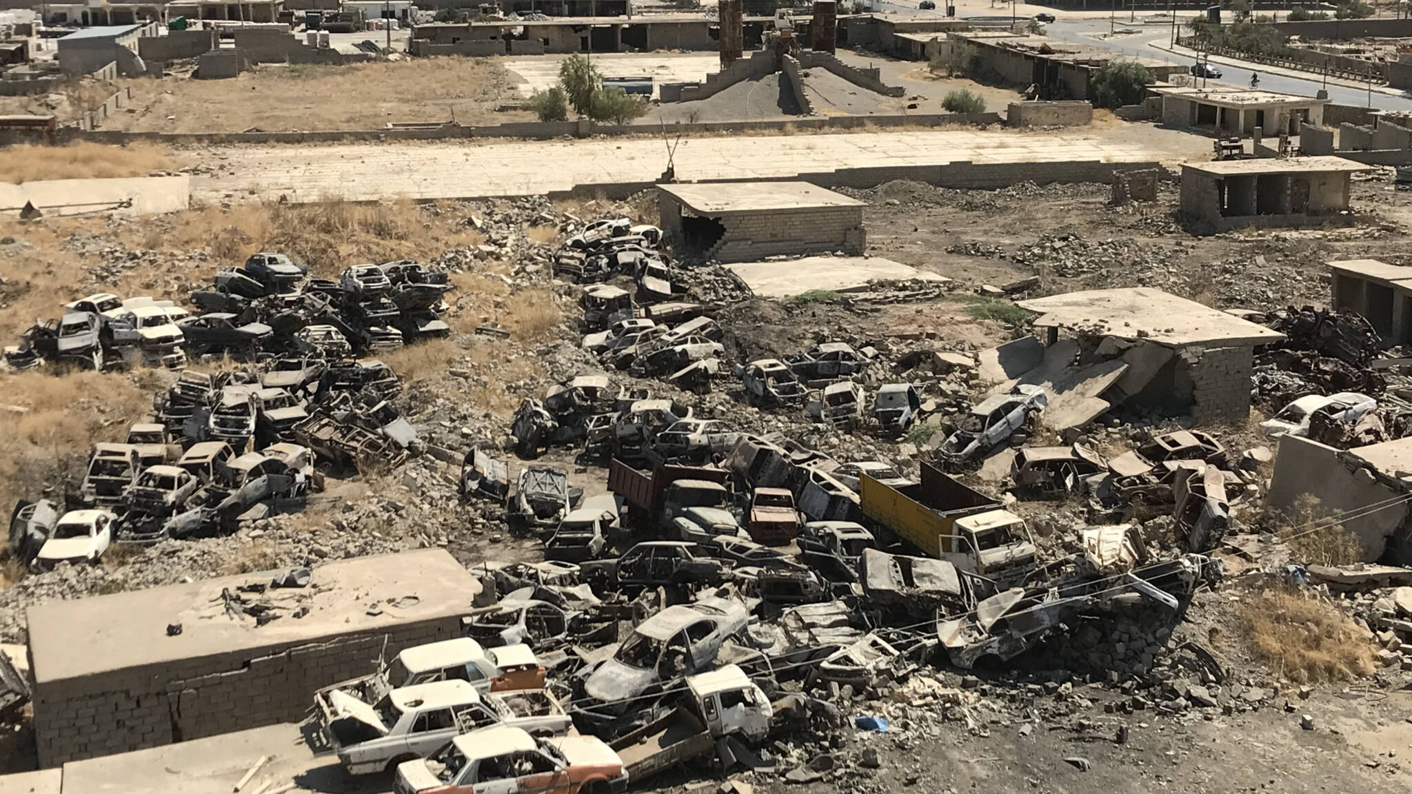 Hawija, Iraq industrial estate, bombed by Dutch air force, NOS photo