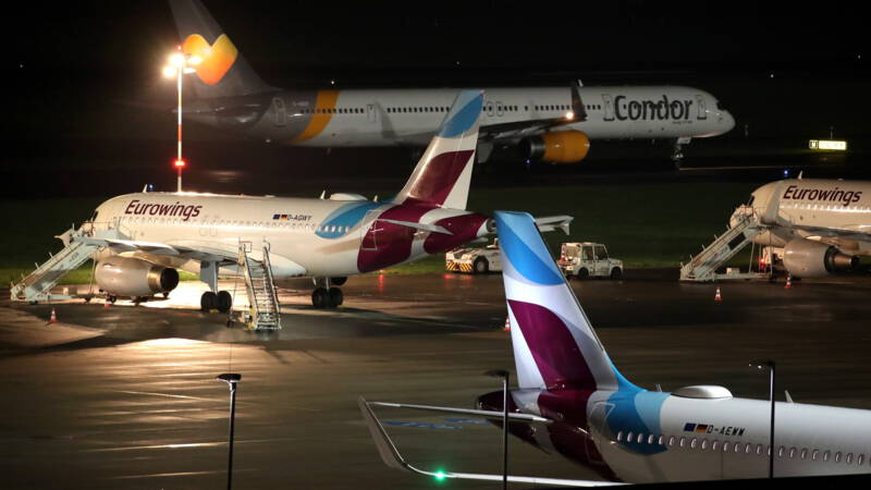 Staking cabinepersoneel Lufthansa-dochters in Duitsland